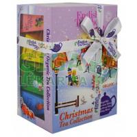 Čaje Christmas Tea Collection pyram.4druhy po 3ks Lyžaři