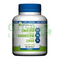Calcium+Magnesium+Zinek tablet 100+50 Bio-Pharma