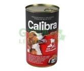 Calibra Dog konz.-hovězí + játra + zelenina v želé 1240g