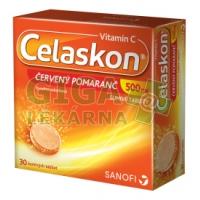 Celaskon 500mg Červený pomeranč 30 šumivých tbl.