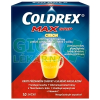 Coldrex Horký nápoj Maxgrip Citron 10 sáčků