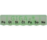 Dávkovač léků OBZOR typ 07 týdenní světle zelený