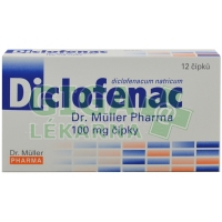 Diclofenac Dr.Müller Pharma 100mg 12 čípků