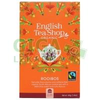 English Tea Shop Bio Čaj Rooibos Čistý 20s.
