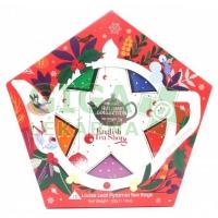 English Tea Shop Bio Sada s červeno-stříbrnou vánoční hvězdou 16ks