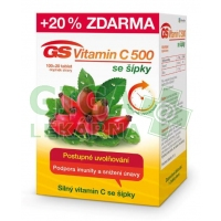 GS Vitamin C500 + šípky 100+20 tablet