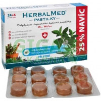 HerbalMed pastilky Dr.Weiss Eukalypt+máta+vit.C 24+6