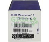BD Microlance Inj. jehla 22G 0.70x40 černá 100ks