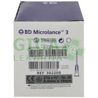 Inj. jehla BD Microlance 27G 0.40x19 šedá 100ks