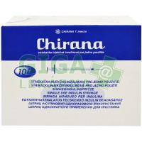 Injekční stříkačka insulinová 1ml U100 Chirana 100ks 0.33x12