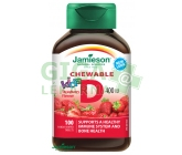 Jamieson Vitamín D3 Kids Jahoda tbl.100