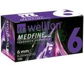 Jehly WELLION MEDFINE PLUS 31Gx6mm 100ks inz.pera