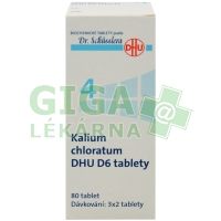 Kalium chloratum DHU 80 tablet D6 (No.4)