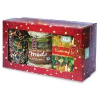 Kazeta vánoční čaj syp.+porc.+ med se skoř.Fytopharma