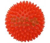 KineMAX Hedgehog Masážní míček ježek 9cm červený