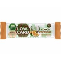 Topnatur LOW CARB tyčinka kokos - pomeranč 40g