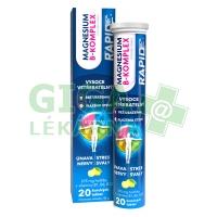 Magnesium B-Komplex RAPID 20 šumivých tablet