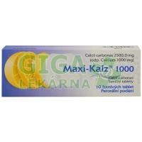 Maxi-Kalz 1000 šumivé tablety 10x1000mg