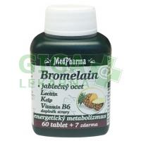 MedPharma Bromelain+jablečný ocet+lecitin 67 tablet