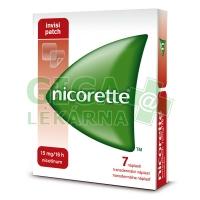Nicorette Invisipatch 15mg/16h 7 náplastí