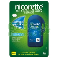 Nicorette Mint 4mg 20 pastilek