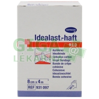 Obinadlo Idealast-haft color 8cmx4m červená