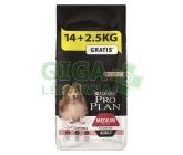 PRO PLAN Dog Adult Medium Sensitive Skin 14+2,5kg zdarma