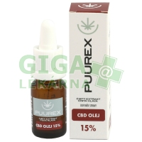 Puurex 15% CBD olej (1500mg) 10ml