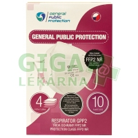 Respirátor GPP2 (tř. ochrany FFP2 NR) 10ks