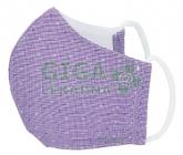 Obrázek Rouška textilní 3-vrstvá 1ks, MD class I, Fialová M