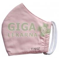 Rouška textilní 3-vrstvá 1ks, MD class I, Růžová M
