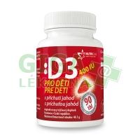 Vitamín D3 400IU pro děti - jahoda 90 tablet