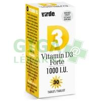 Vitamín D3 Forte 1000 I.U. 30 tablet Virde