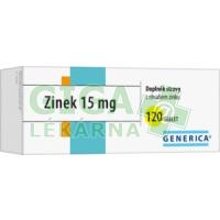 Zinek 15 mg tbl.120 Generica